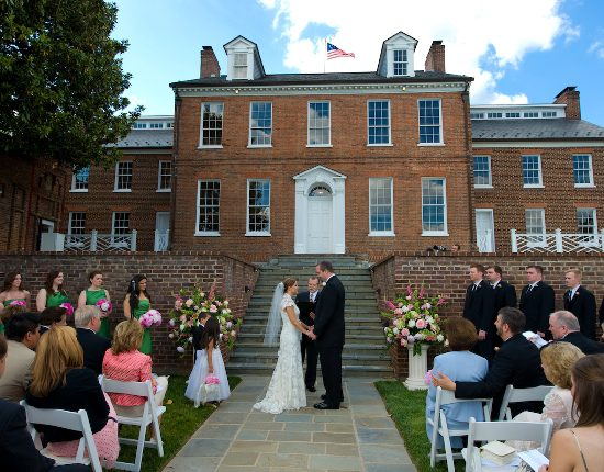Outdoor ceremony at Halcyon House