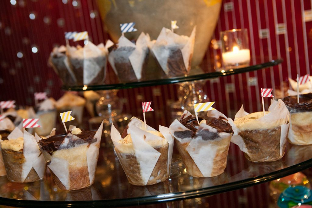 Nationals Park wedding - cupcake tower from Baked and Wired