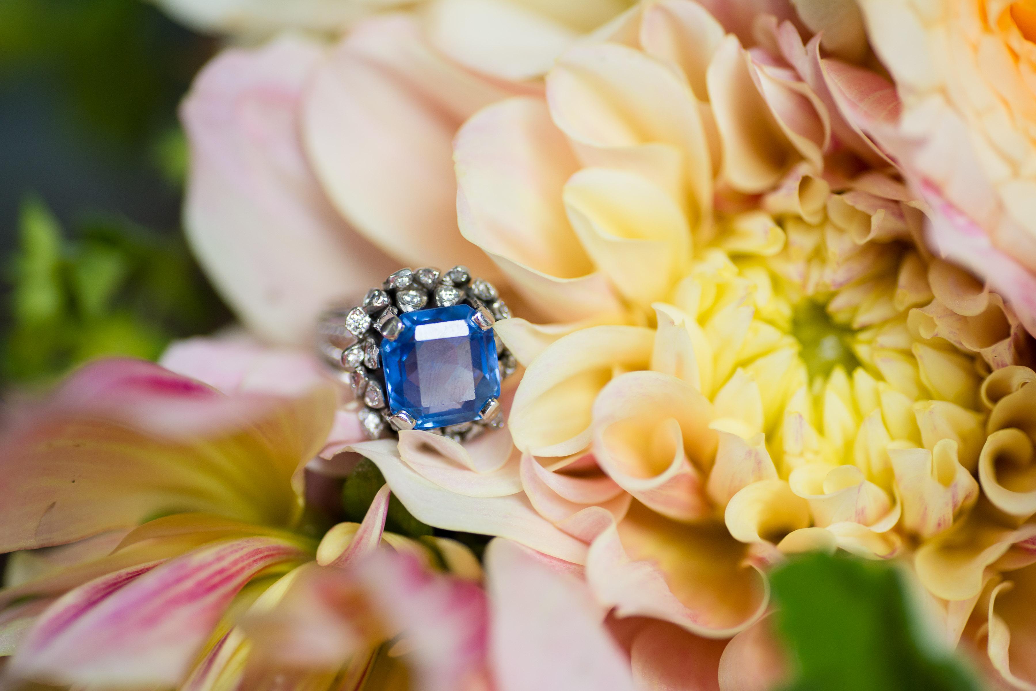 heirloom blue ring right hand wedding something blue