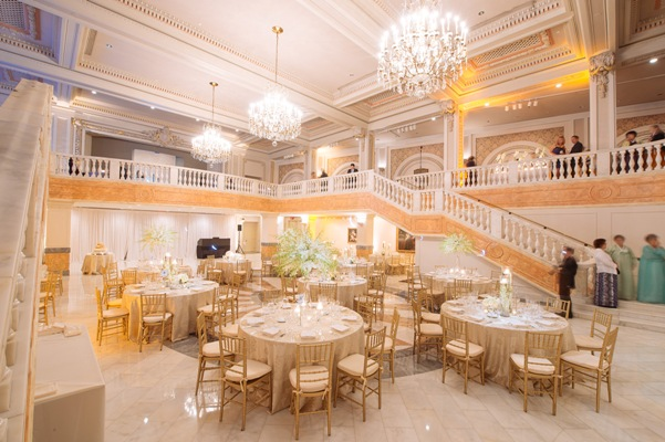 national museum of women in the arts wedding reception gold and white