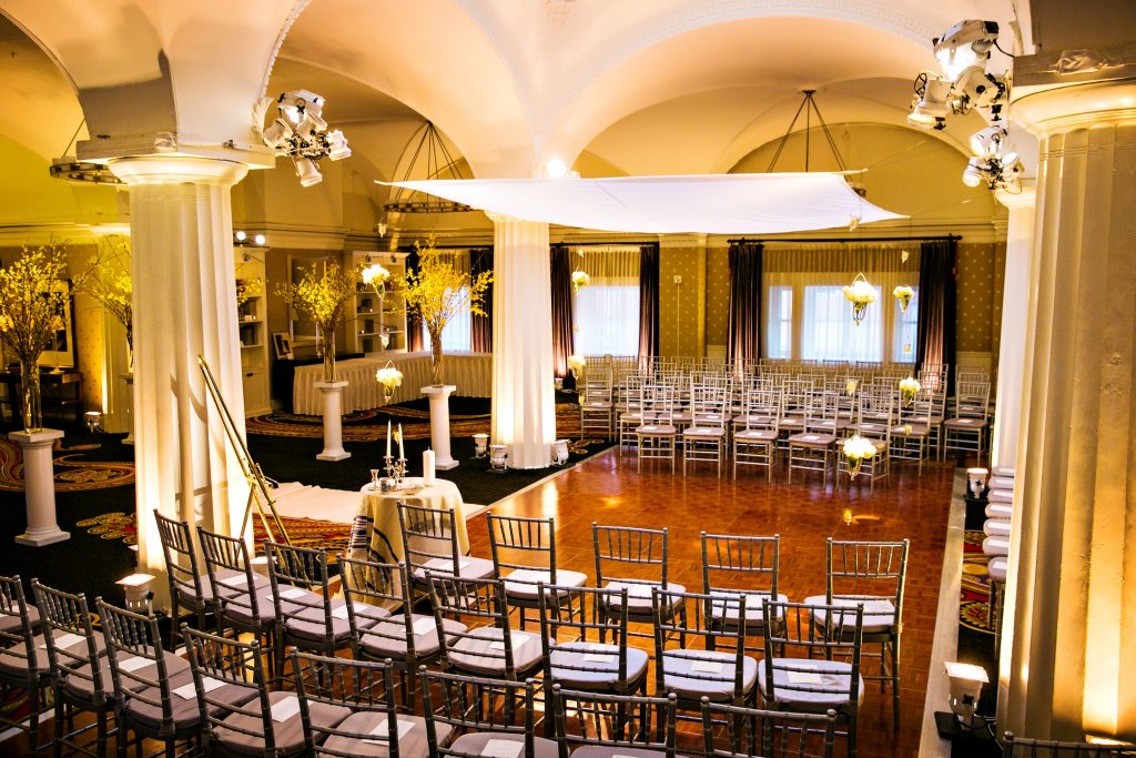 hotel monaco dc wedding ceremony chuppah
