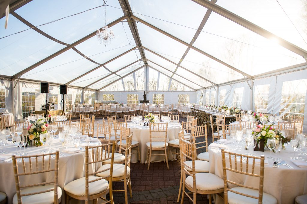 oxon hill manor wedding reception tent large venue