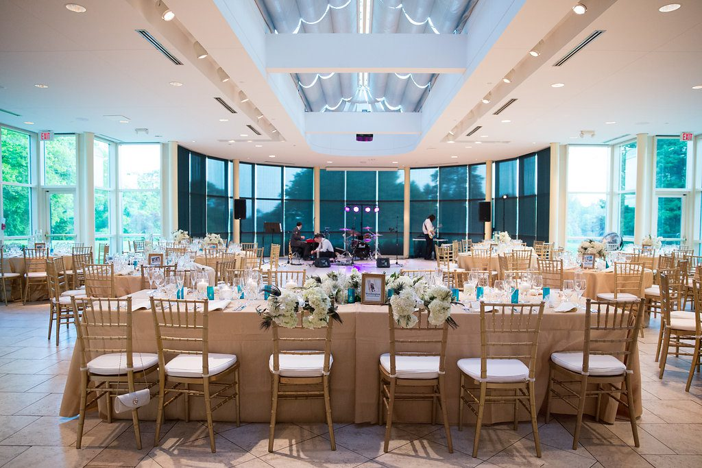 Newton White Mansion wedding reception head table