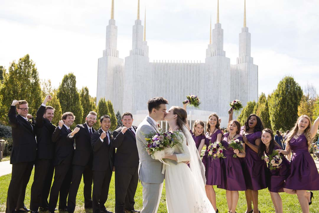 LDS temple DC wedding dresses by top DC wedding planner Bellwether Events