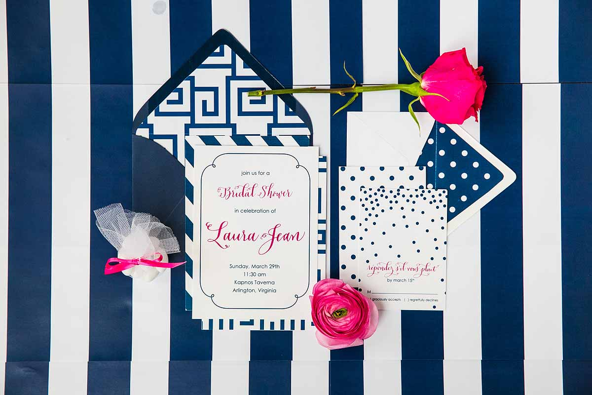Preppy Bridal Shower inspiration pink and blue patterns 10