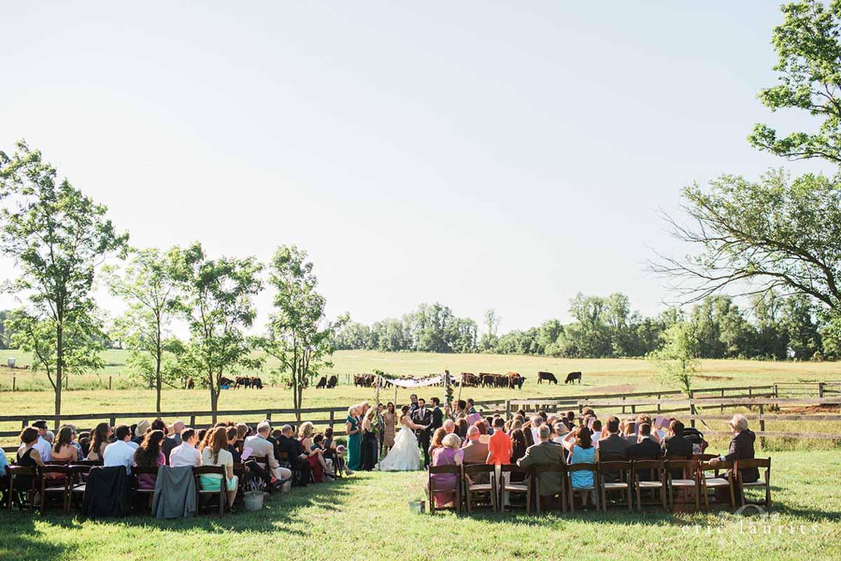 Rocklands Farm Wedding photo Jewish ceremony tented reception 22