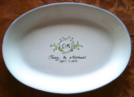 wedding guest book idea platter plate