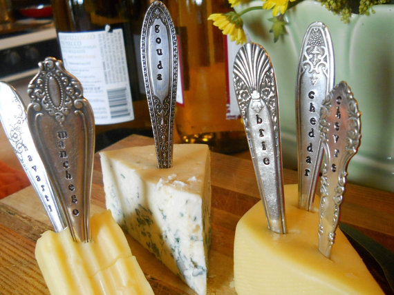 Hostess Gift Idea - vintage cheese markers