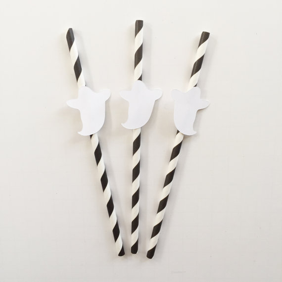 halloween theme party paper straws