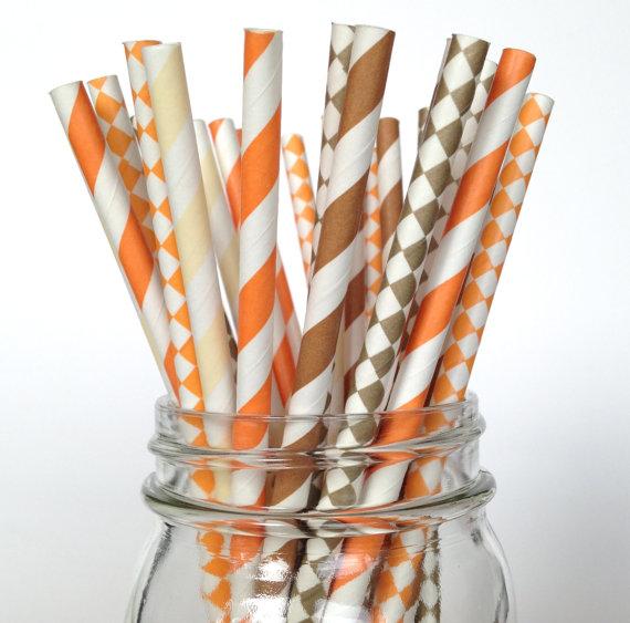 thanksgiving theme party paper straws