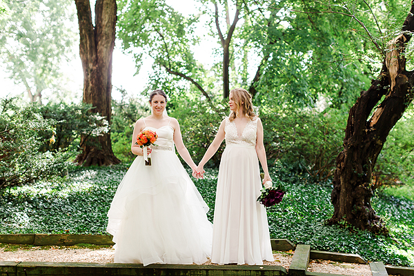 Virginia private home same sex wedding photo
