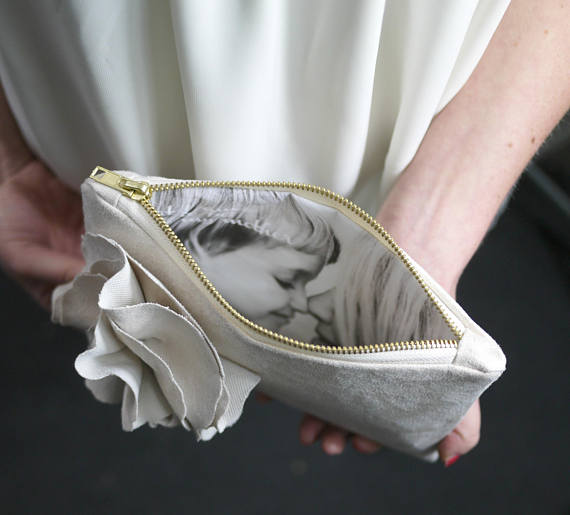 mother of the bride gift custom photo pouch