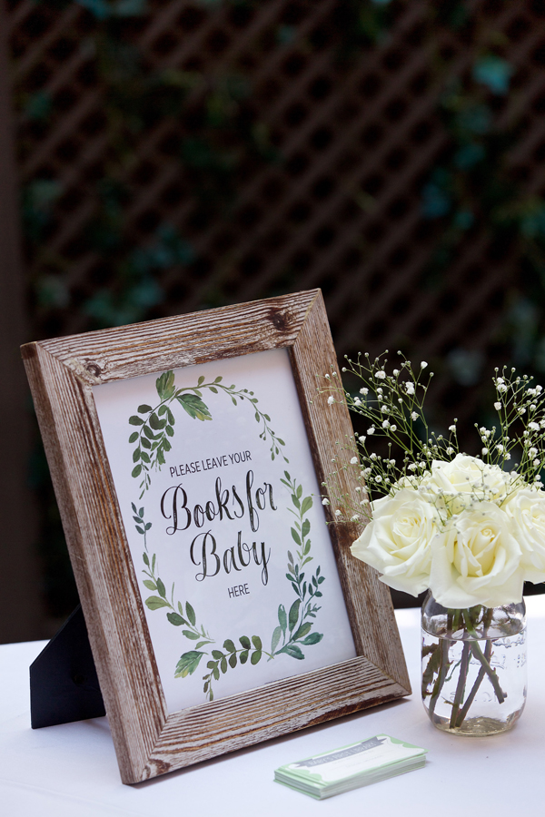 A classy, neutral baby shower in Alexandria VA - build a library