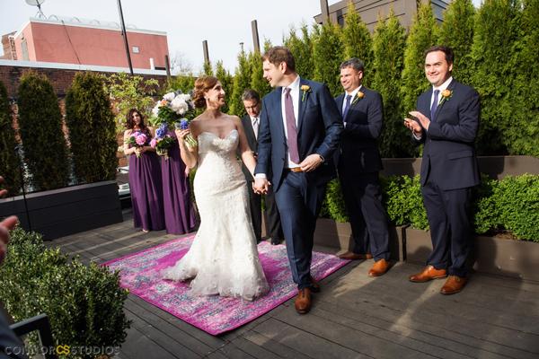 Fathom Gallery Wedding OUtdoor rooftop DC ceremony