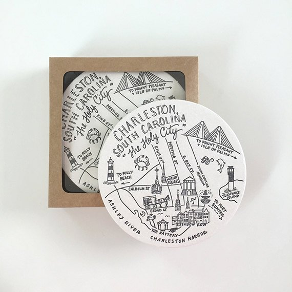charleston gift idea: coaster set