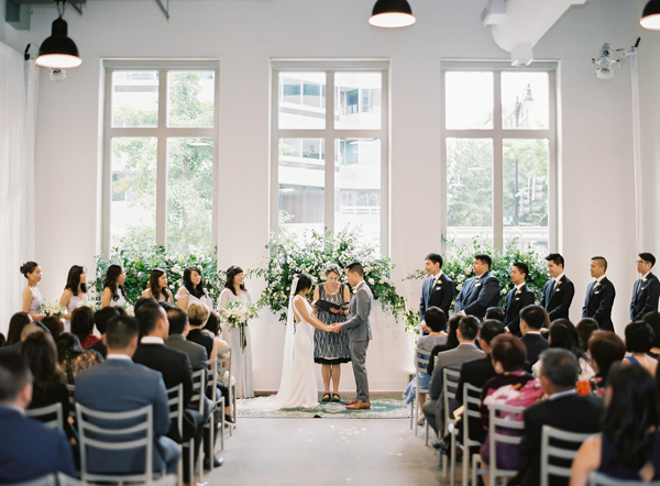 DC Showroom Wedding: green and gray: modern and organic