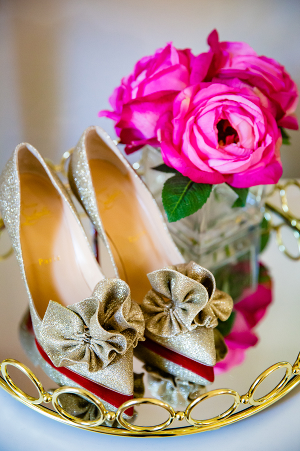 Carnegie Institute Wedding gold bridal shoes