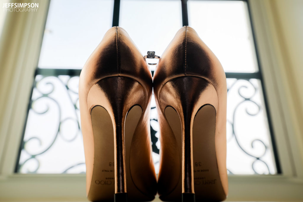 Carnegie Institute for Science wedding copper shoes