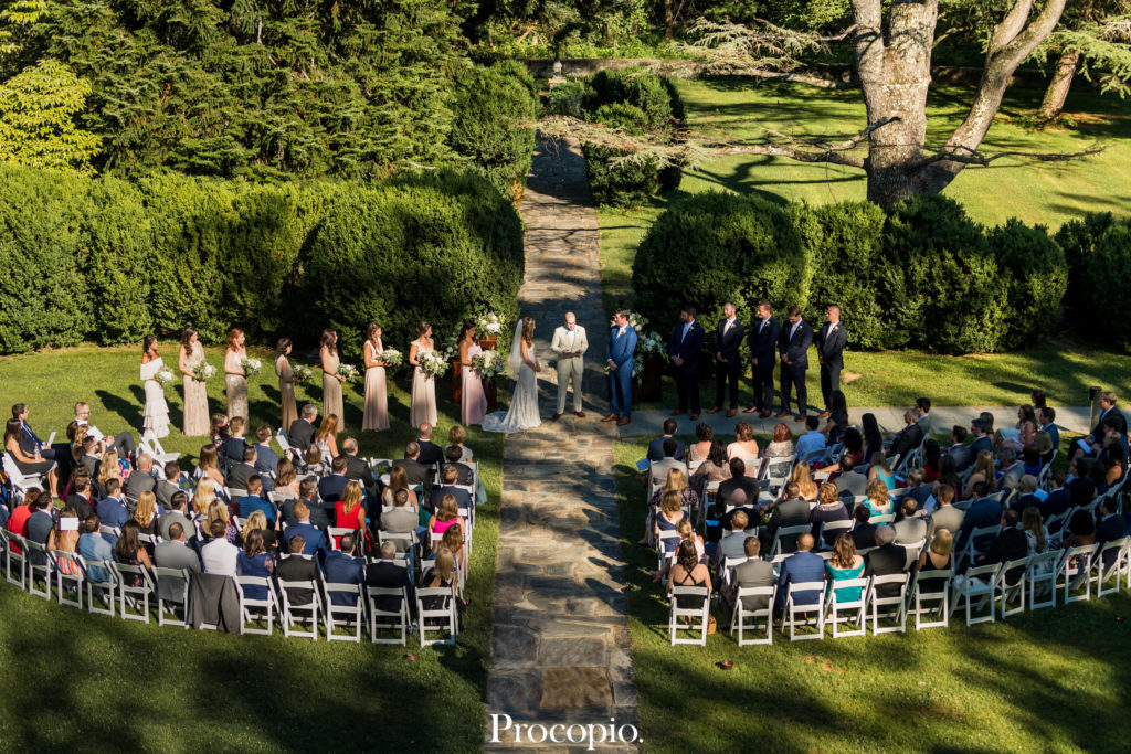the ultimate guide to outdoor wedding venues in Northern Virginia -  Rust Manor House Leesburg Virginia wedding ceremony