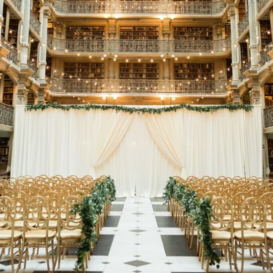 Peabody Library Weddings Ceremony - Bellwether Events