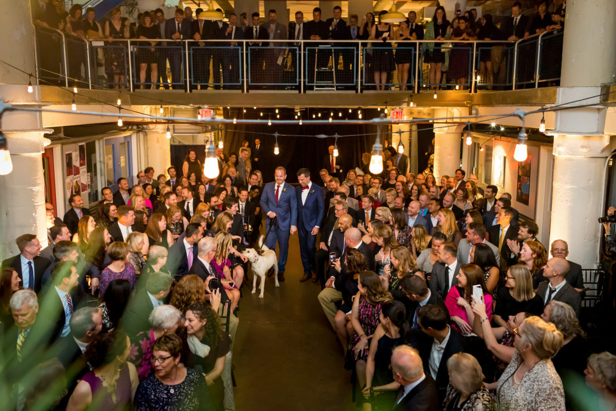 Torpedo Factory Wedding – Bellwether Events – Virginia event planner 16 ceremony