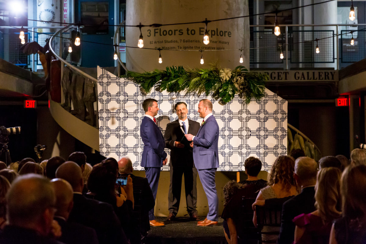 Torpedo Factory Wedding – Bellwether Events – Virginia event planner 17 ceremony