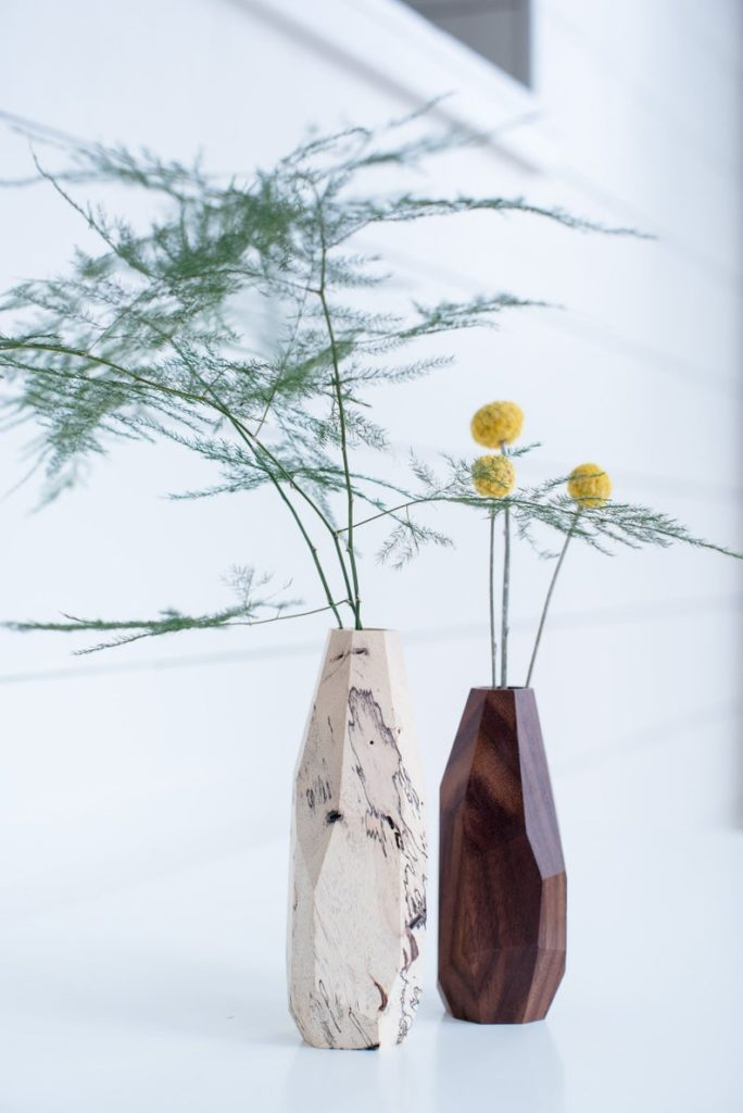 gift idea for the home - faceted bud vase