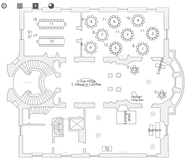 Meridian House DC wedding floor plan