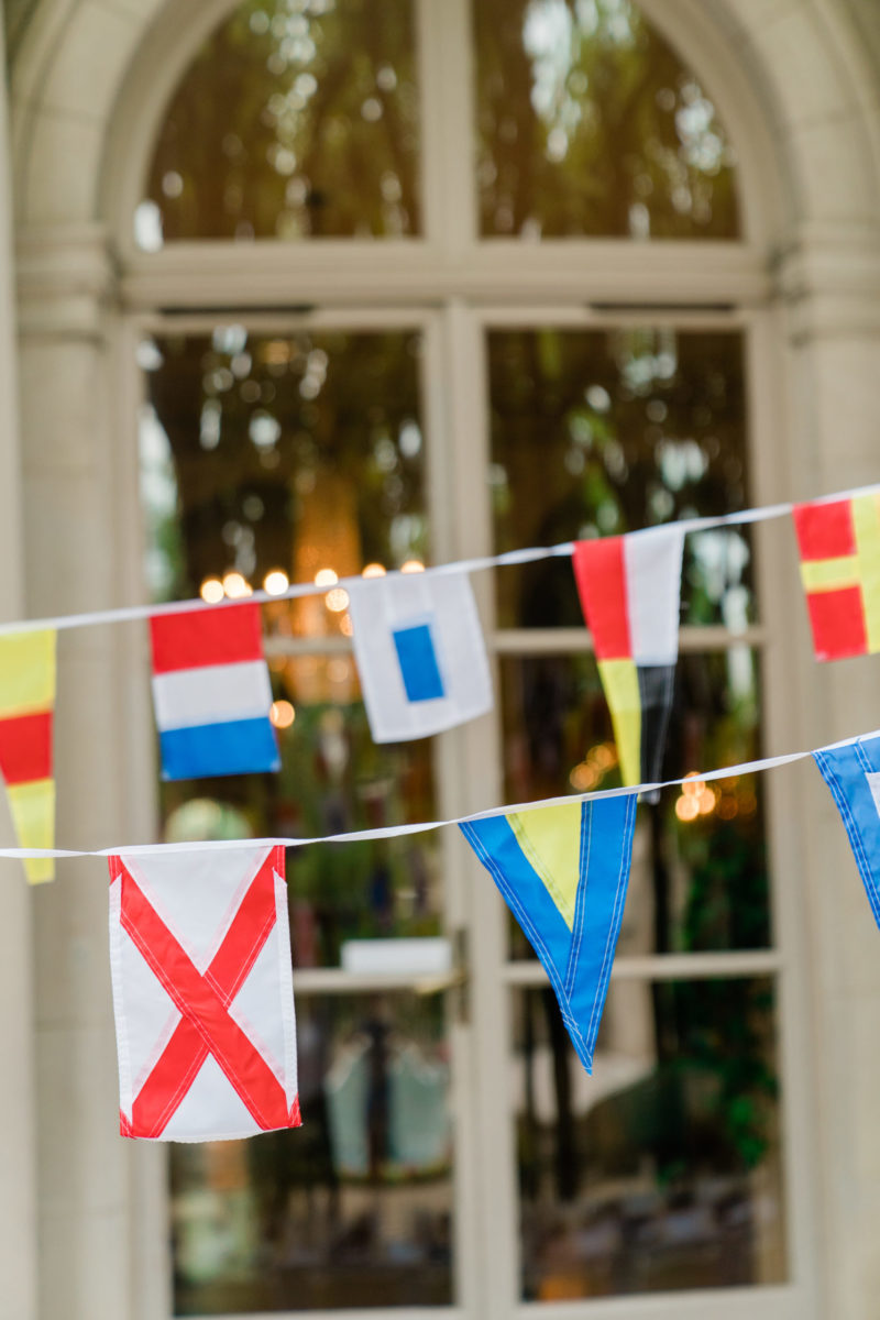 Meridian House crab boil party nautical flags summer