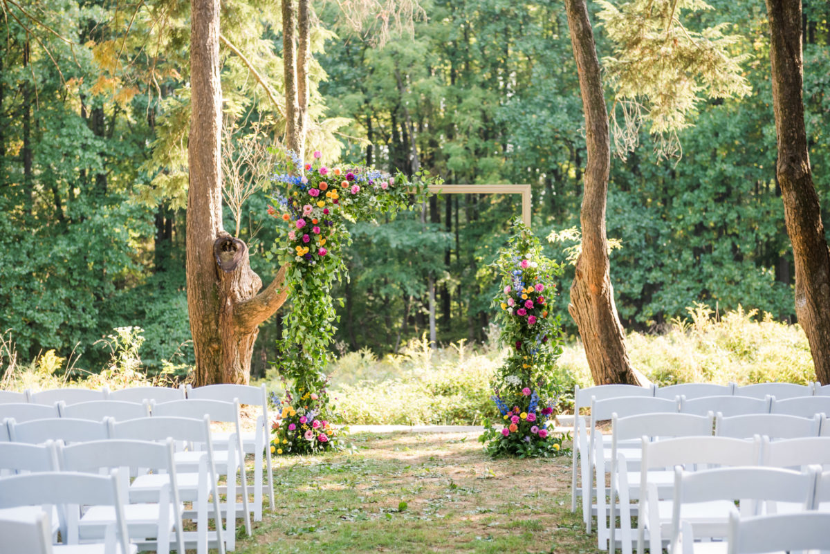 Woodend Sanctuary wedding ceremony arch