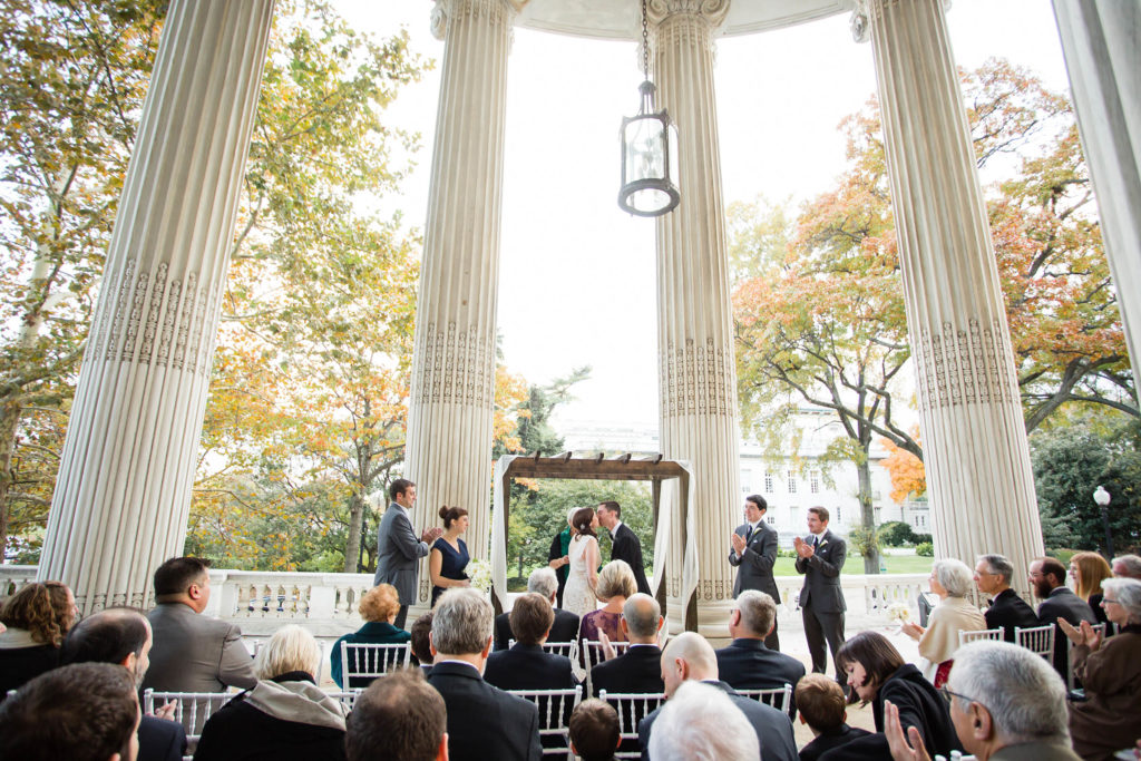 Wedding ceremony at Washington DC DAR - Bellwether Events, Lisa Boggs Photography