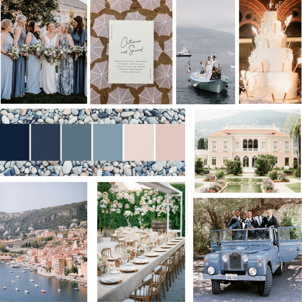 wedding inspiration board French Riviera