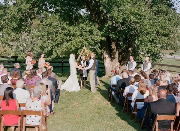 the ultimate guide to outdoor wedding venues in Northern Virginia - Tranquility Farm Wedding ceremony