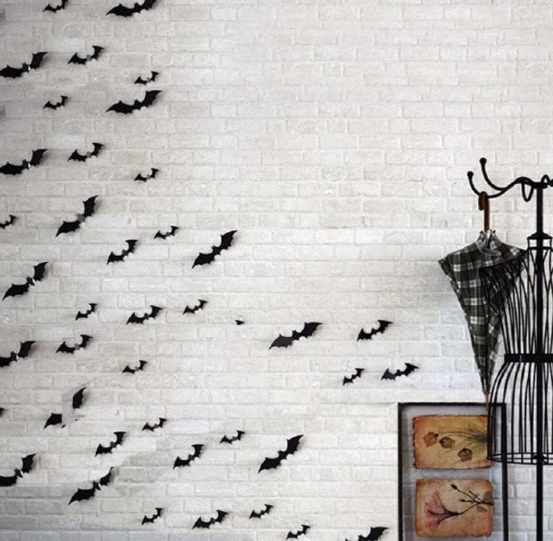 3d bat decor for halloween for your wall