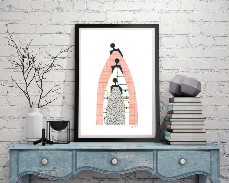 standing on the shoulders of our ancestors - art print download - gift of art