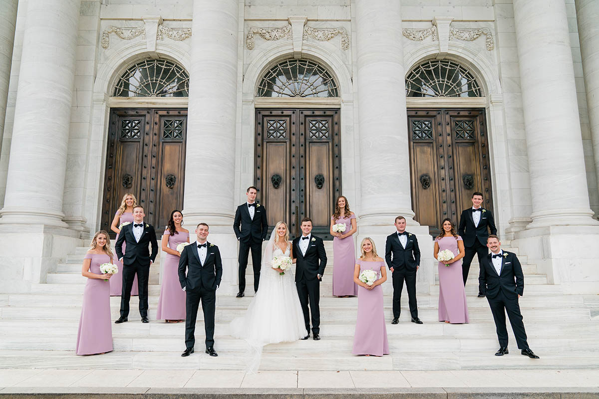 Washington DC formal wedding party group photo - Bellwether Events