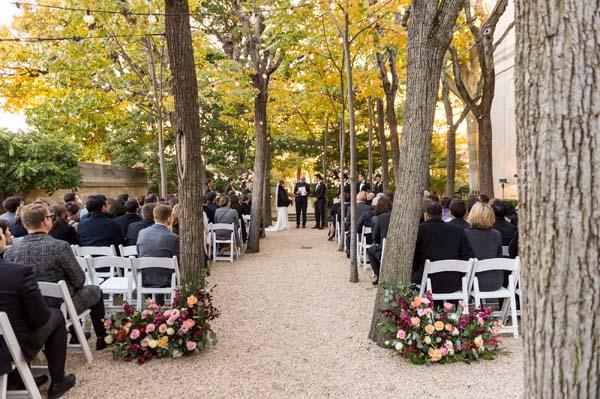 Meridian House DC wedding ceremony Linden Grove winter outdoor