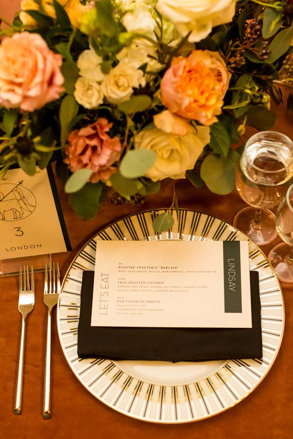 Meridian House DC wedding emerald and dusty rose