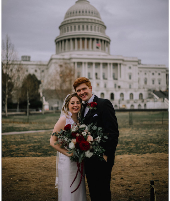 Winter wedding Washington DC